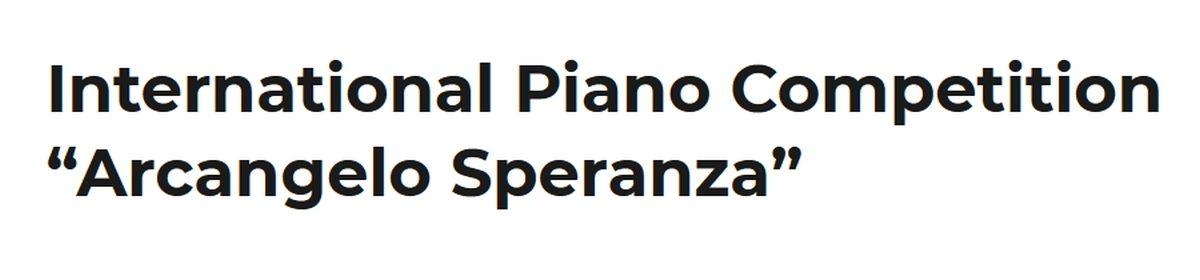 """Concorso Pianistico Internazionale  """"Arcangelo Speranza"""""""